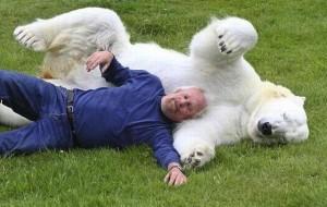 Дружба полярного медведя и человека