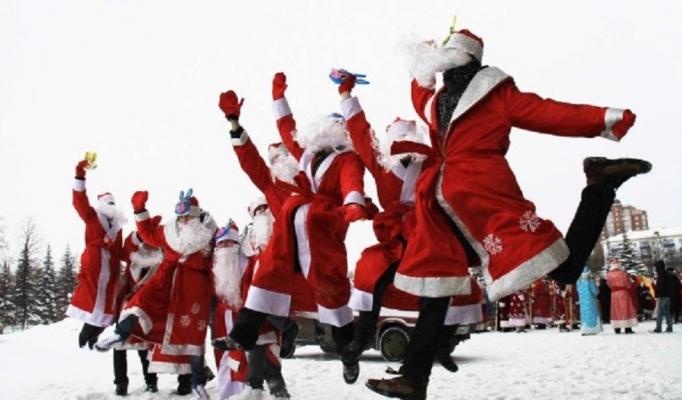 Парад дедов морозов в Виннице